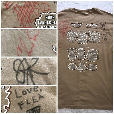 Red Hot Chili Peppers Signed T Shirt John Frusciante 2004 Band Autograph Rare