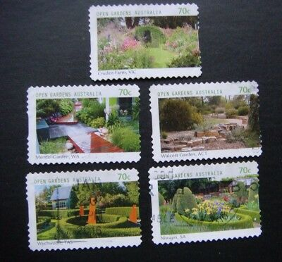 Australia Stamps 2014.open Gardens In Australia Used S/a Set