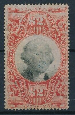[4645] USA Inter-Revenue good stamp very fine used. Cut at left