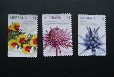 "Australia Stamps 2015 ""wild Flowers"" Used S/a Set"