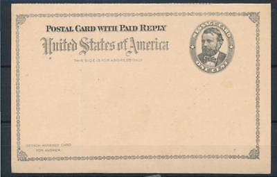 [4865] USA good old complete postcard with REPLY in very fine quality