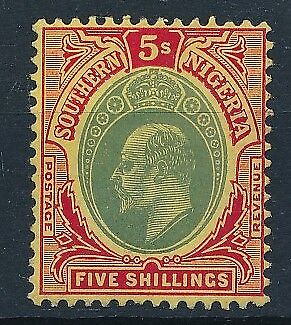 [54068] Southern Nigeria 1907-10 good MH Very Fine stamp $55