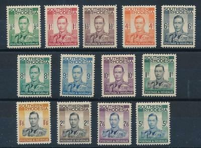 [54281] Southern Rhodesia 1938 good set MH stamps $70