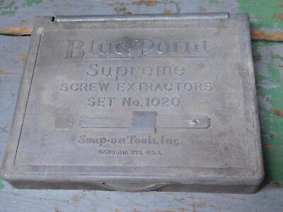 Vintage Bluepoint Snap On screw extractor case, EMPTY