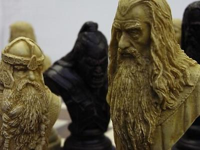 large heavy Lord of the rings movie charactors Chess Set chessmen game pieces
