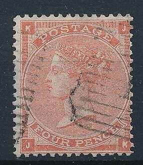 [54935] Great-Britain 1862 big garter wtmk good Used Very Fine stamp $110