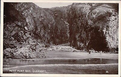 Guernsey Channel Isles Petit Port Bay 1950'S  Real Photo Postcard