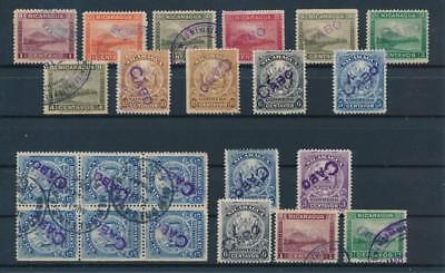 [G44672] Nicaragua Cabo Good lot of Very Fine Mint no gum/used stamps