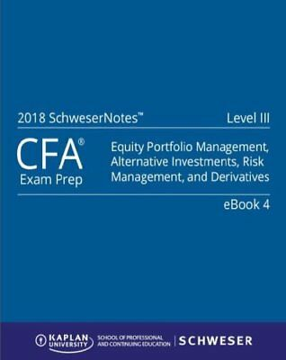 2018 Cfa Level 3 Study Notes Book + Bonus