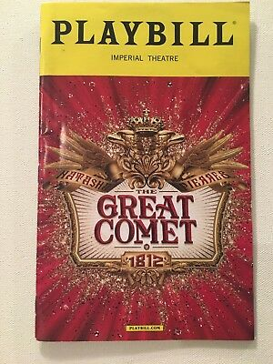 Natasha Pierre and the Great Comet of 1812 BROADWAY PLAYBILL ORIGINAL CAST