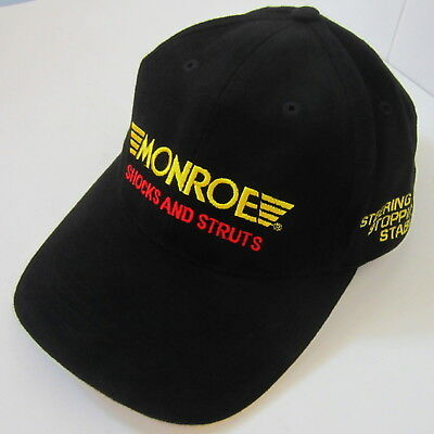 Monroe Advertising Cap Hat Shocks Struts Tenneco Walker Rancho Dynomax BLACK