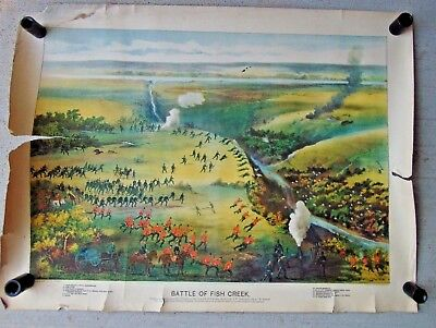 1885 Print Louis Riel, Metis Rebellion Battle Of Fish Creek Sk Grip Publ Toronto
