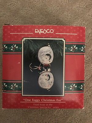One Foggy Christmas Eve 3rd in Spectacle Series Enesco Ornament NEW