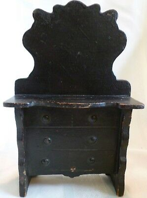 ANTIQUE Country PRIMITIVE Hand Made WOODEN WHIMSY Dresser Bank ORIGINAL PAINT