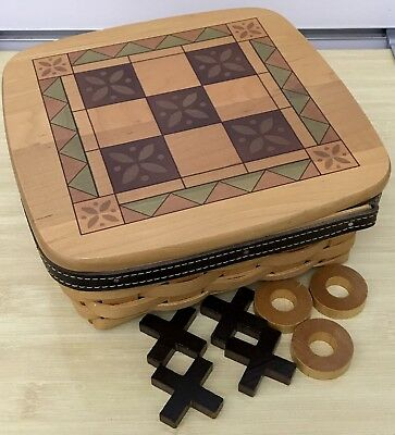 Longaberger Father's Day Tic Tac Toe Basket 2001