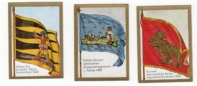 Lot of 3 1932 Historic Flag Cards THIRTY YEARS WAR Regiments 1632 1633