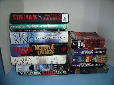 Lot Of 13 Stephen King*cycle Of The Werewolf*firestarter*cujo*gerald's Game