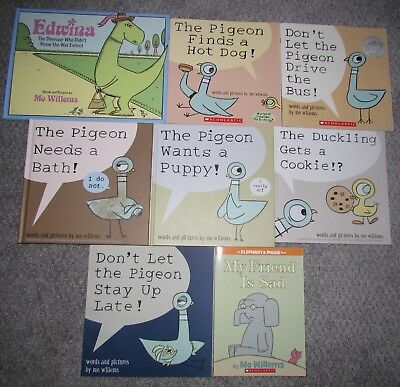 Mo Willems Children's Picture Book Lot Of 8 Books