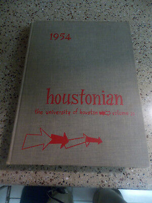 the university of houston yearbook 1954 houstonian college geneology