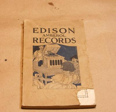 """1920 Paperback Book """"Edison Amberol Records"""" Form A-4274 Discography 175 Pages"""