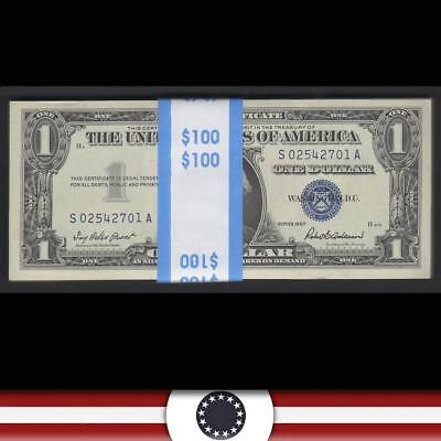 GEM consecutive pack of 100 1957 $1 Silver Certificates Fr 1619  S02542701A