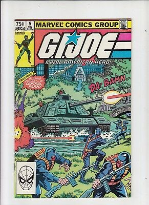 G.I. Joe a Real American Hero #5 75 Cent Canadian Newsstand Price Variant NM-