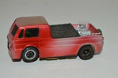 TYCO PRO HO SLOT CAR ~ TRICK TRUCK red silver