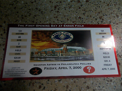 the first opening day at enron fiels game ticket phillies philadelphia world ser