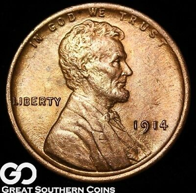 1914 Lincoln Cent Wheat Penny