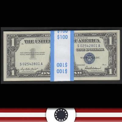 GEM consecutive pack of 100 1957 $1 Silver Certificates Fr 1619  S02542801A