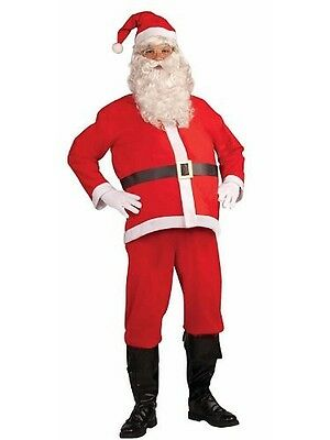 8c568bdb86a8 Red Santa Claus Costume Suit St Nick XMAS Clas Mens Adult Hat Jacket Pants  NEW
