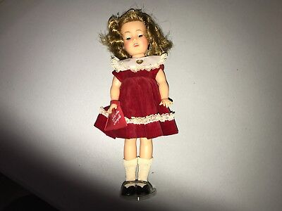"""Vintage Ideal Shirley Temple 12"""" Doll with Shoes, Dress, & Socks"""