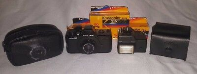 Vintage Pentax Auto 110 Camera System with Flash & 3pks of 110 Film