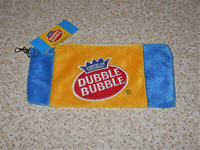 Dubble Bubble Gum Zippered Plush Carry-All Bag Holder Unused with Tag