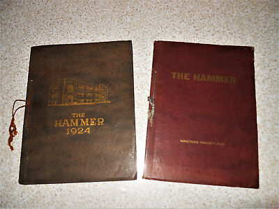 1924 & 1925 The Hammer Mauston WI Vintage High School Yearbooks