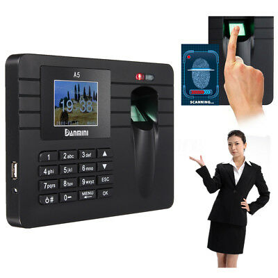 Time Recorder Machine Fingerprint+ Password Clocking In Clock Attendance Check