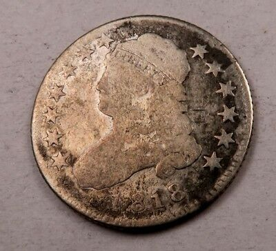 1818/5 Capped Bust Quarter // VG // (Q675)