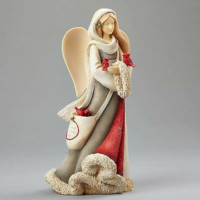 Enesco Heart of Christmas Collectible Angel w/ Birds Cardinals Figurine 4052768