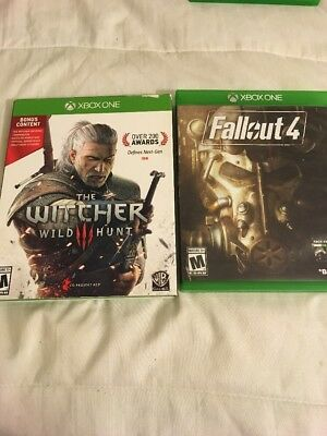 The Witcher Wild Hunt And FallOut 4 Xbox One Games