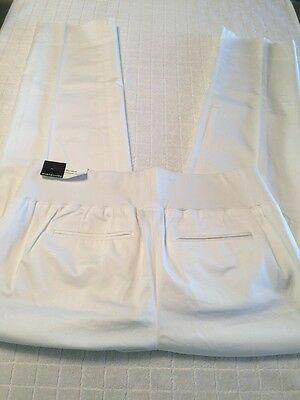 Ann Taylor Loft Maternity size 2 M White Pants Demi Panel Cropped Stretch NEW