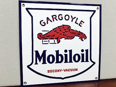 Mobiloil Gargoyle rare Mobil Gas pegasus oil gasoline vintage advertising sign