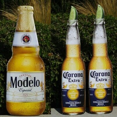 Corona Extra Modelo Especial Beer Tin Sign Set New