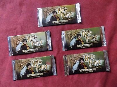 HARRY POTTER and The Sorcerer's stone TRADING CARDS X5 packs **SEALED**