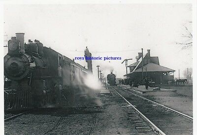 ONAWA  IOWA The Old Chicago & Nth Western Railroad Station & Depot in Feb 1907