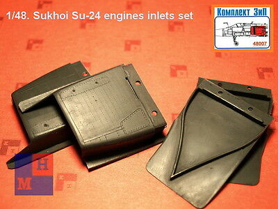 "1/48 Sukhoi Su-24 correct engines inlets set, by ""Complete ZIP"" 48007"