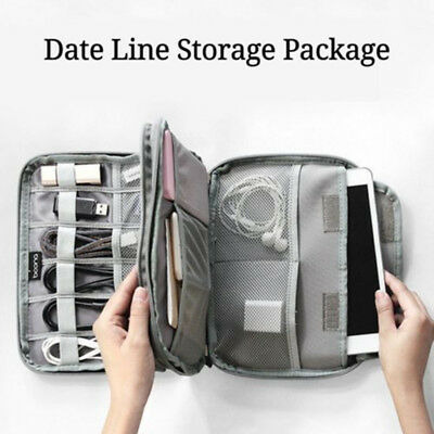AU Electronic Accessories USB Cable Organizer Bag Case Drive Travel Insert