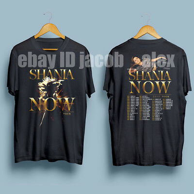 Shania Twain Now Tour 2018 Gildan T-Shirt Black:S-XXL