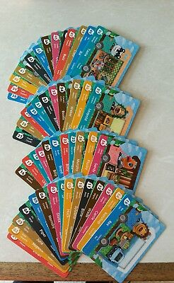 animal crossing welcome amiibo cards full set 1-50