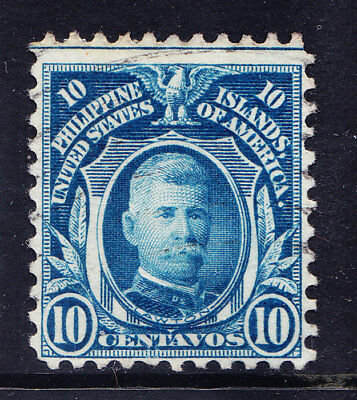USA PHILIPPINES 1918 SG332 10c blue very fine used perf 11. Catalogue £2.50