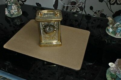 Faberge Gold Carriage Clock Perfect Working Order No Damage Original Paperwork